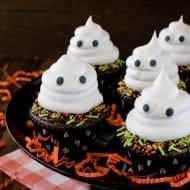 Ghost Brownie Cupcakes