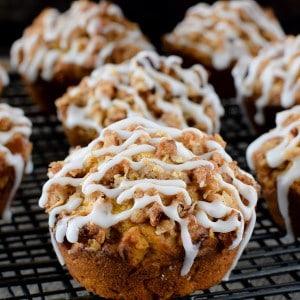 Pumpkin Banana Streusel Muffins