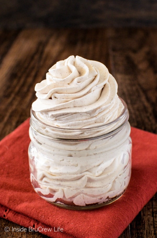 Chai Whipped Cream - this easy homemade spiced whipped cream is the perfect recipe for coffee, cheesecakes, or pies!