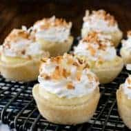 Coconut Cream Cheesecake Pie Bites