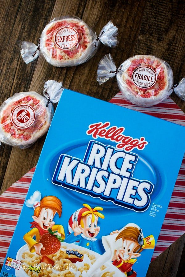 These Peppermint Rice Krispies Pinwheels are the best no bake treat for holiday parties.