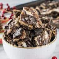 Cookies and Cream Toffee Bark