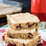 Frosted Cranberry Apple Butter Bars
