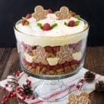No Bake Eggnog Cheesecake Trifle