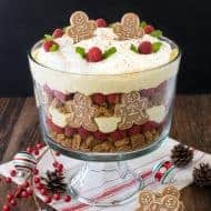 No Bake Eggnog Cheesecake Trifle