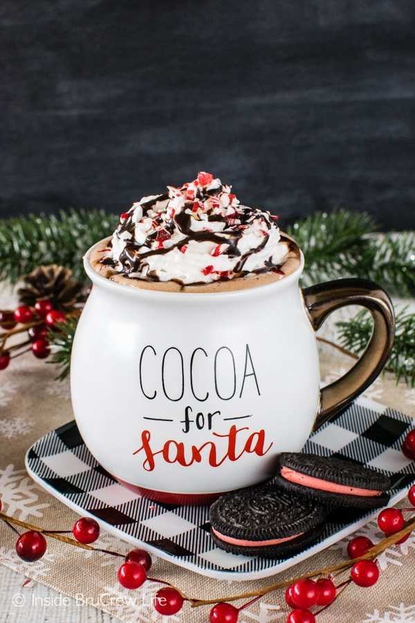 Nutella Hot Chocolate - this easy creamy drink is ready in minutes. Great recipe for a cold winter day!