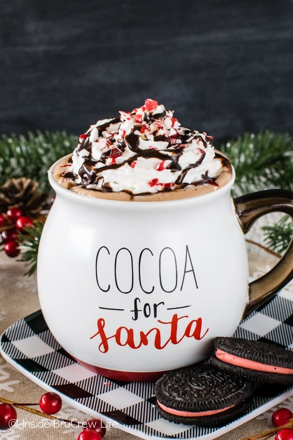 Nutella Hot Chocolate - this easy and creamy hot chocolate is the perfect drink recipe to warm you up on a cold day. Add spirits to make it a fun adult drink!