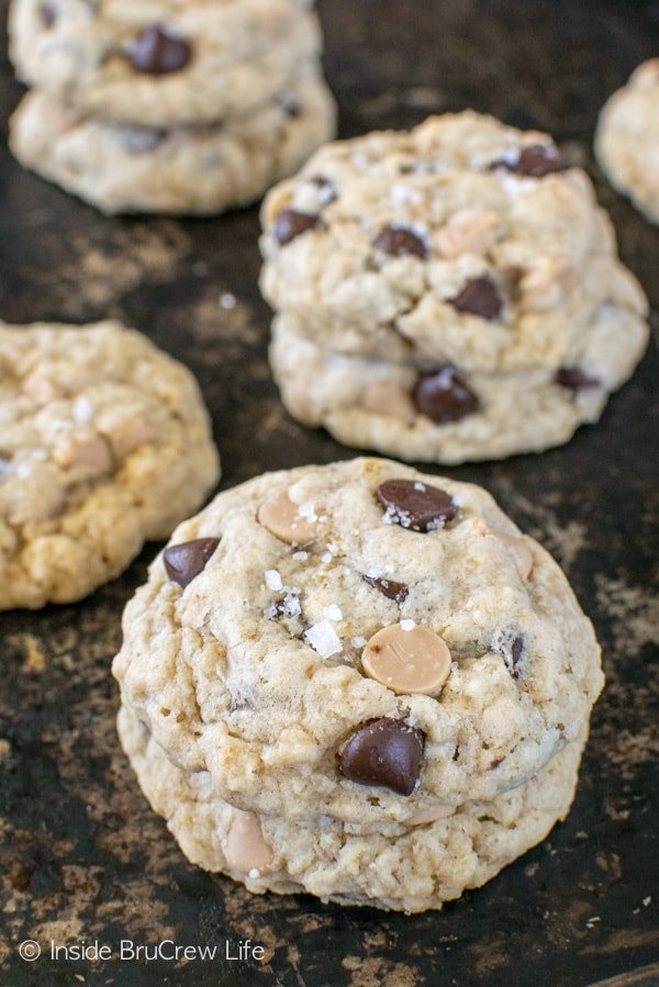 Salted Caramel Chocolate Chip Cookies - sweet and salty in every bite makes this recipe a must make for your cookie jar!