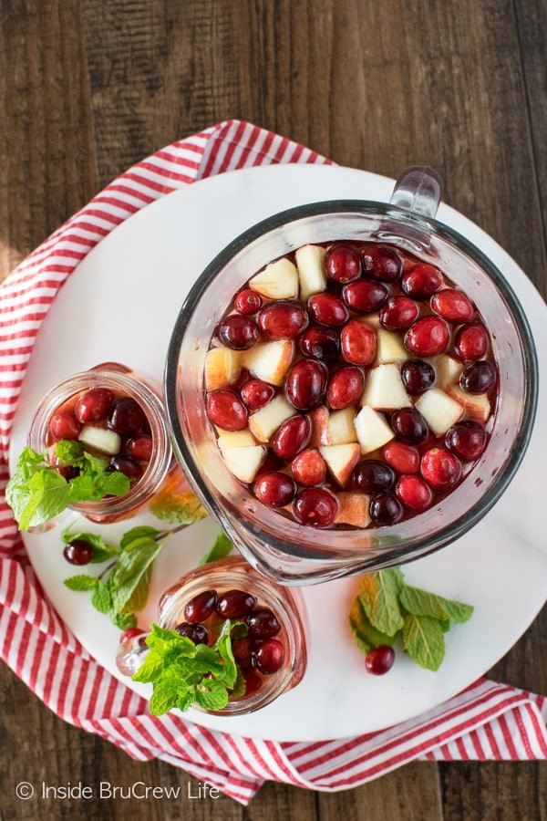 Fruit juice and 7UP makes this Sparkling Cranberry Apple Punch a great party drink recipe that everyone will enjoy.