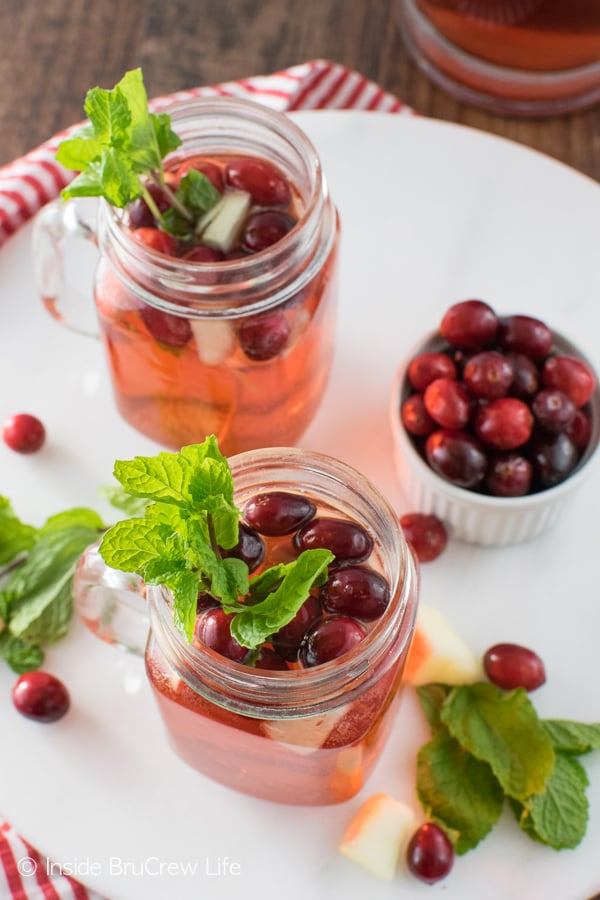 Fruit juice and 7UP mixed together creates this delicious Sparkling Cranberry Apple Punch. Great drink recipe that everyone can enjoy!