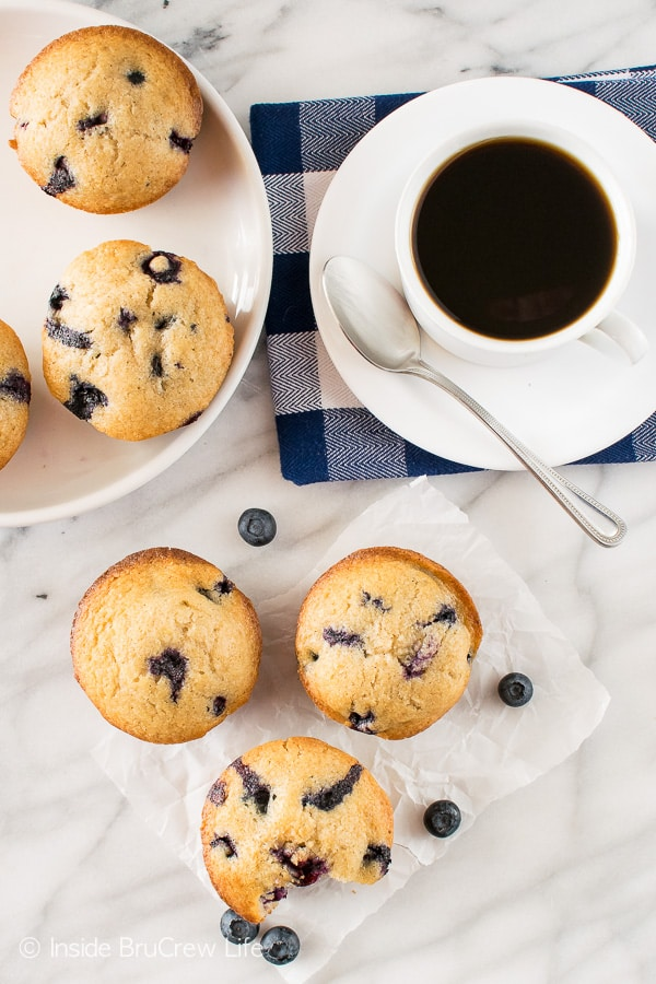 Blueberry Chai Muffins - soft muffins filled with spices and fresh berries are a great way to start out the day!
