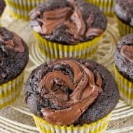 Chocolate Nutella Banana Muffins