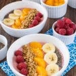 Raspberry Orange Frozen Yogurt Bowls