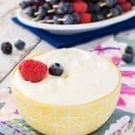 Lemon Cream Fruit Dip