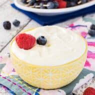 Lemon Cream Fruit Dip