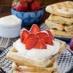 Homemade Strawberry Waffles