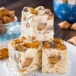 Caramel Peanut Butter Pretzel Fudge