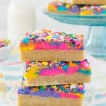 Vanilla Unicorn Sugar Cookie Bars