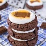 Easy Chocolate Marshmallow Cookies