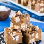 Salted Caramel Snickers Fudge