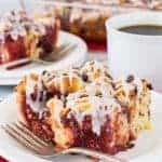 Strawberry Chocolate Cinnamon Roll Bake