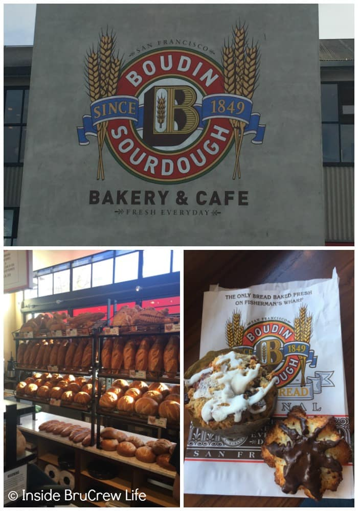 Seven Places to Visit in San Francisco - having sweets and a bread bowl from Boudin Bakery is a must stop for lunch.