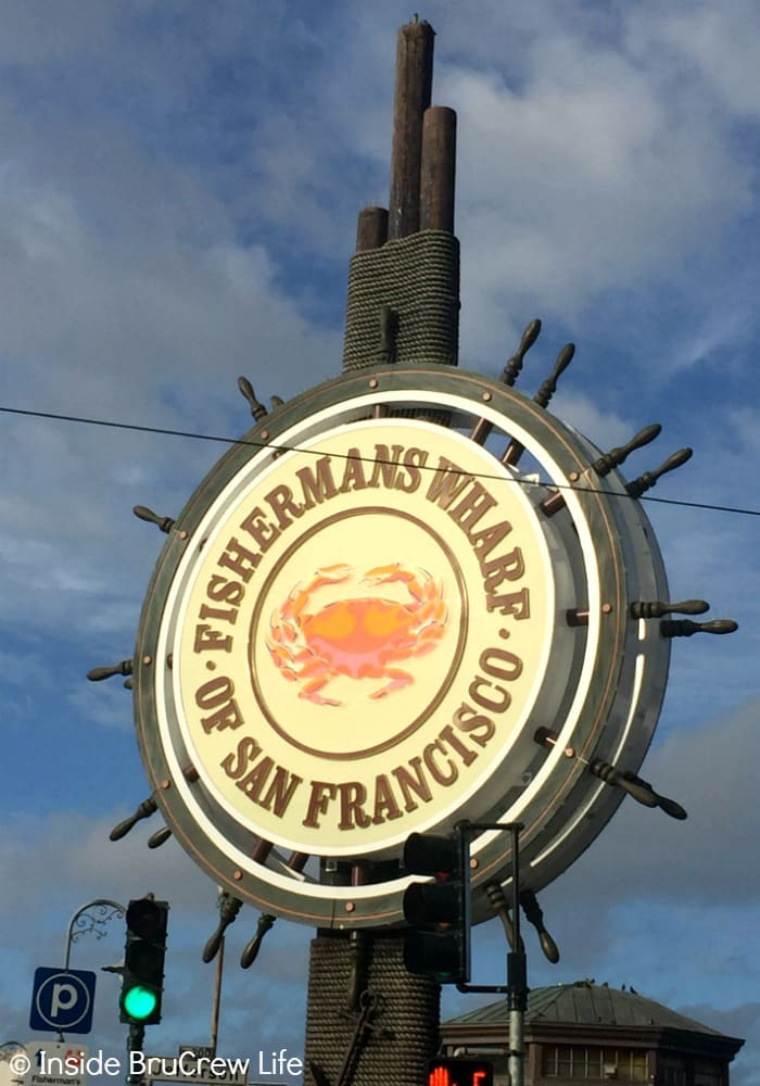 Seven Places to Visit in San Francisco - the shops and piers at Fishermans Wharf are a must see. There are lots of fun places to eat and enjoy.