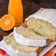 Frosted Orange Poppy Seed Bread