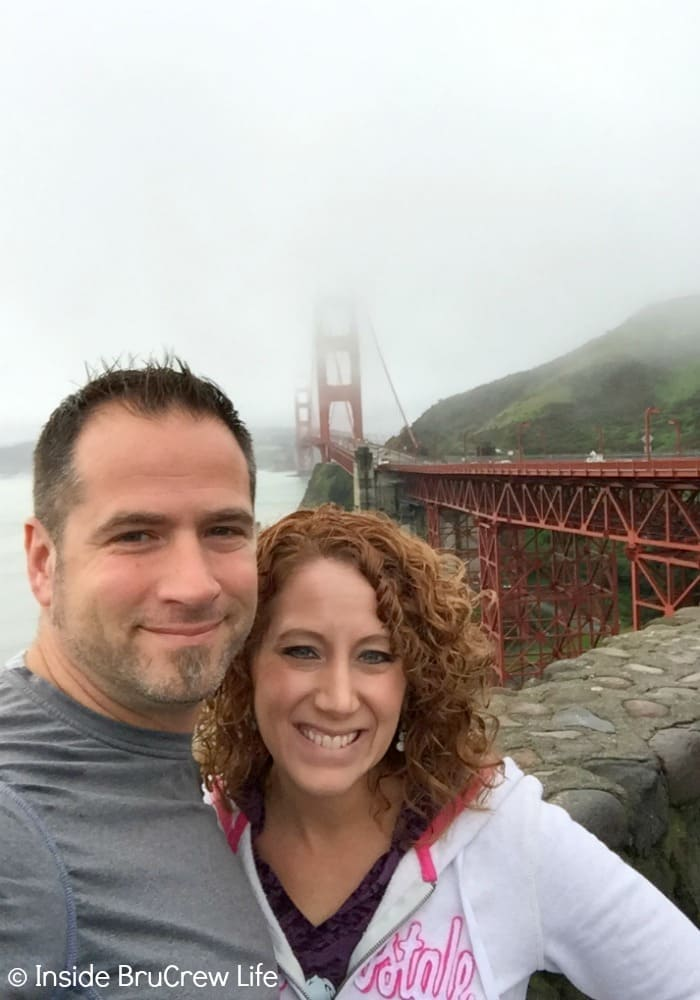 Seeing the Golden Gate Bridge was on our Seven Places to Visit in San Francisco list!