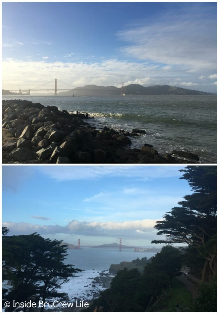 Seven Places to Visit in San Francisco - there are plenty of different parks and trails that give you great views of the Golden Gate Bridge