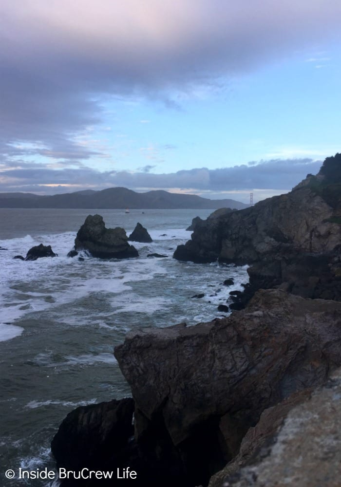 Seven Places to Visit in San Francisco - the trails and rocks at Lands End is a great place to watch the sun set over the bay in San Francisco.