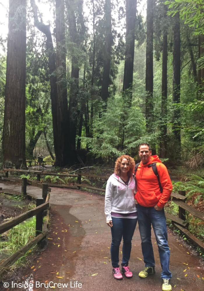 Seven Places to Visit in San Francisco - hiking the trails in Muir Woods