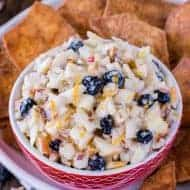 Skinny Apple Blueberry Salsa