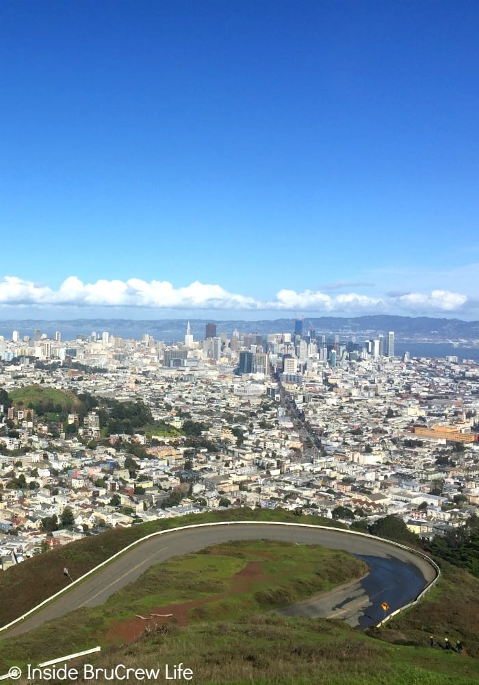 Seven Places to Visit in San Francisco - seeing the city from the top of Twin Peaks is impressive.