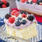 White Chocolate Berry Pudding Cake
