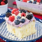White Chocolate Berry Pudding Cake
