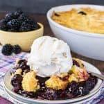 Blackberry Lemon Dump Cake