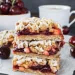 Cherry Apple Crumble Bars