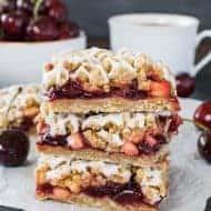 Cherry Apple Crumble Bars