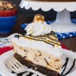 Snickers Cheesecake Brownie Cake