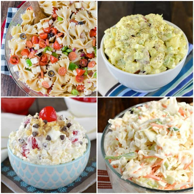 20 Picnic Salads - creamy, crunchy, and easy salad recipes for any summer picnic or party
