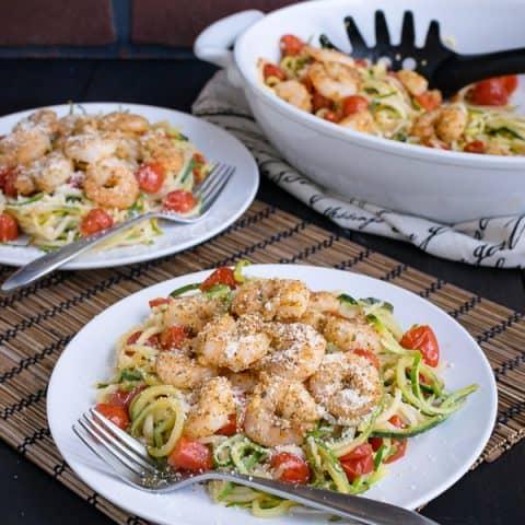 Parmesan Garlic Shrimp Zucchini Noodles