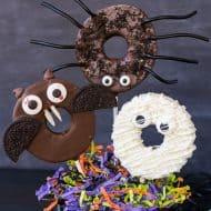 Chocolate Dipped Halloween Apple Rings