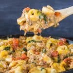 Bacon Cheeseburger Skillet Tortellini Recipe