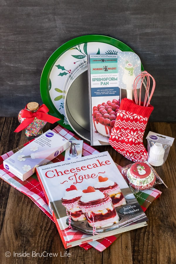 Cheesecake Love Christmas Giveaway - win this box of cheesecake supplies to make your own cheesecakes for the holidays