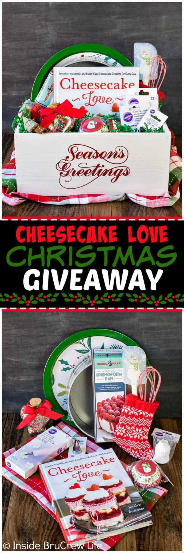 Cheesecake Love Christmas Giveaway - enter to win this box of cheesecake making supplies. Great gift box for the cheesecake lover in your life!