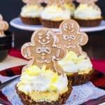 Lemon Gingersnap Cheesecake Tarts