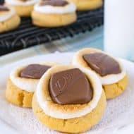 Peanut Butter Fluffernutter Cookies