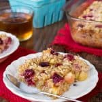 Raspberry Apple Baked Oatmeal