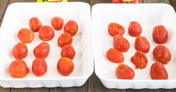 Red Gold tomatoes versus another brand